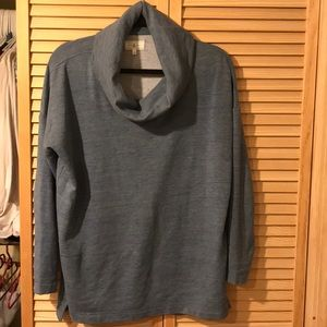 Blue cowlneck sweater